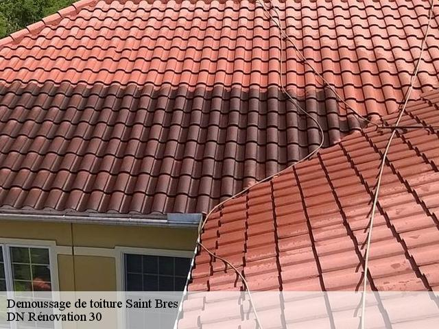 Demoussage de toiture  saint-bres-30500 Artisan Mathurin